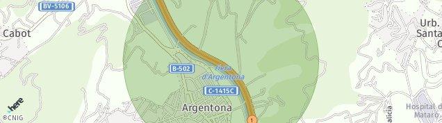 Mapa Argentona