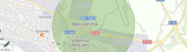 Mapa Vilanova del Camí
