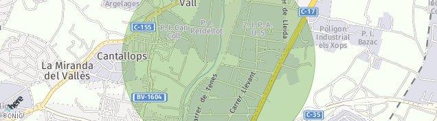 Mapa Lliça de Vall