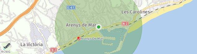 Mapa Arenys de Mar