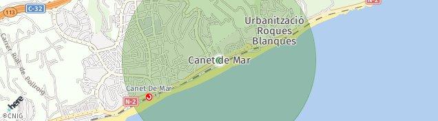 Mapa Canet de Mar