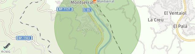 Mapa Monistrol de Montserrat