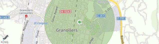 Mapa Granollers