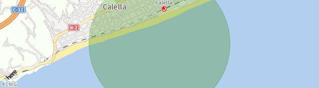 Mapa Calella