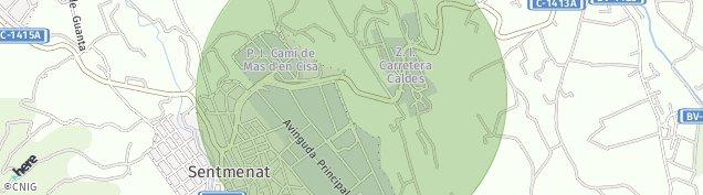 Mapa Sentmenat