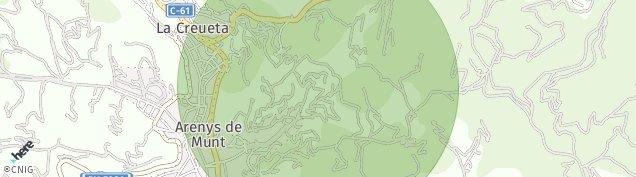 Mapa Arenys de Munt