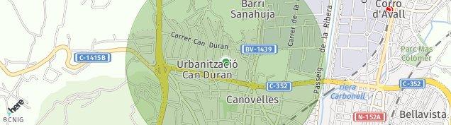 Mapa Can Duran