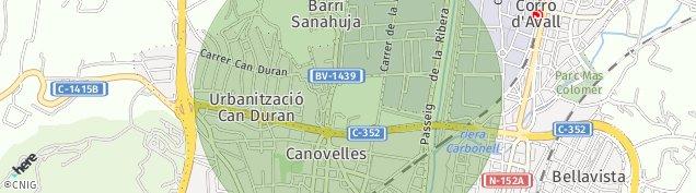 Mapa Canovelles