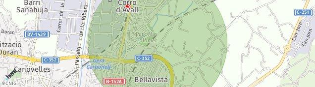 Mapa Corro d'Avall