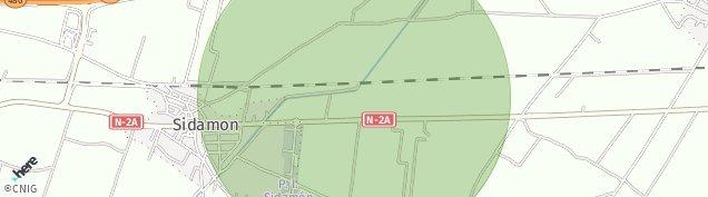 Mapa Sidamon
