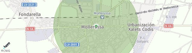 Mapa Mollerussa