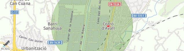 Mapa Les Franqueses del Vallès