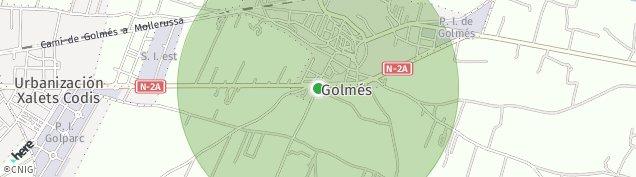 Mapa Golmés