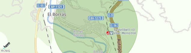 Mapa Castellbell i el Vilar
