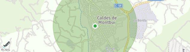 Mapa Caldes de Montbui