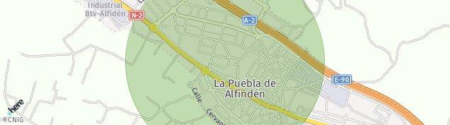 Mapa La Puebla de Alfindén