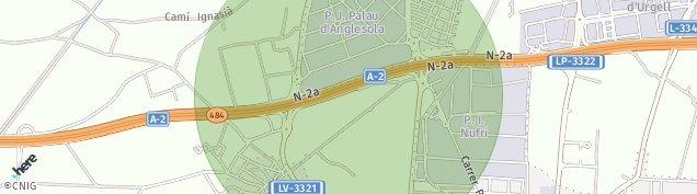 Mapa El Palau d'Anglesola