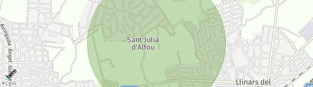 Mapa Llinars del Vallès