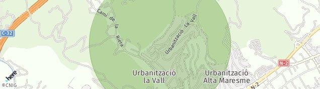 Mapa Santa Susanna