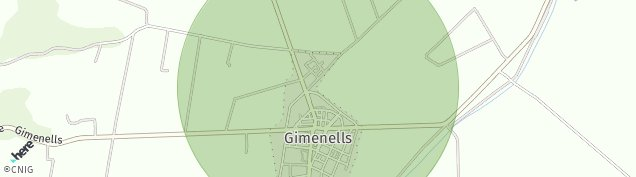 Mapa Gimenells
