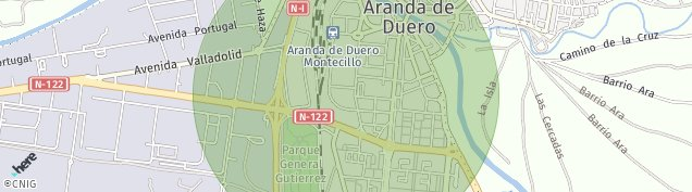 Mapa Aranda de Duero
