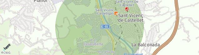 Mapa Sant Vicenç de Castellet
