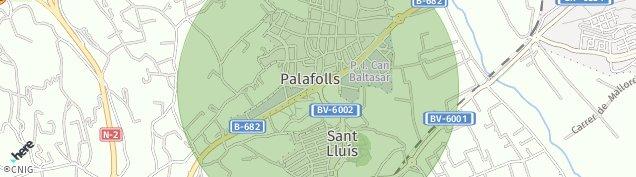 Mapa Palafolls