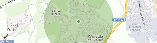 Mapa L'Ametlla del Vallès