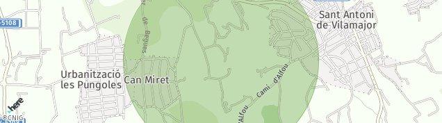 Mapa Sant Antoni de Vilamajor