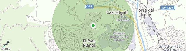 Mapa Castellgalí