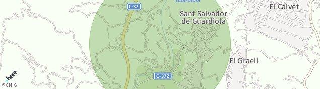 Mapa Sant Salvador de Guardiola