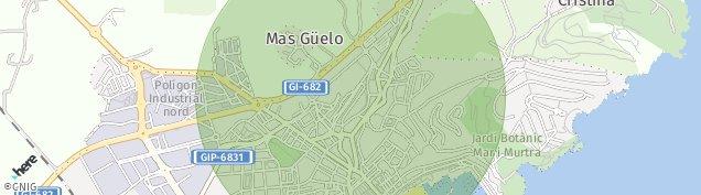 Mapa Blanes