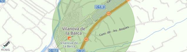 Mapa Vilanova de la Barca