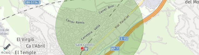 Mapa Sant Celoni