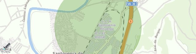 Mapa Santovenia de Pisuerga