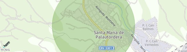 Mapa Santa Maria de Palautordera