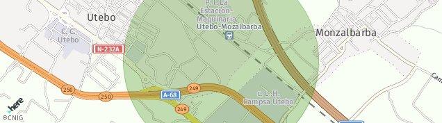 Mapa Monzalbarba