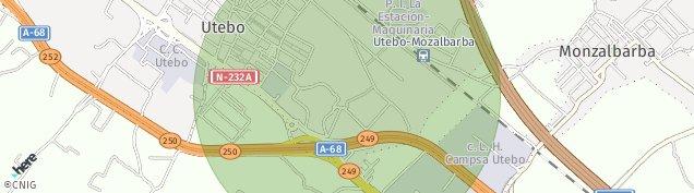 Mapa Utebo