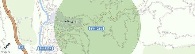 Mapa El Pont de Vilomara i Rocafort