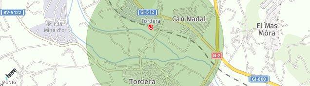 Mapa Tordera