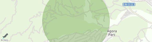 Mapa Fogars de la Selva