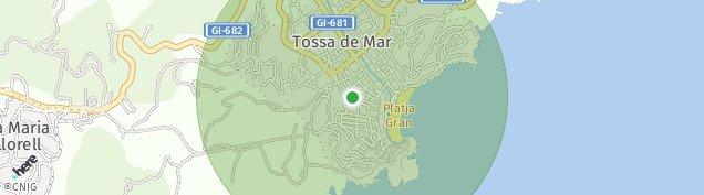 Mapa Tossa de Mar