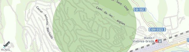 Mapa Riells i Viabrea