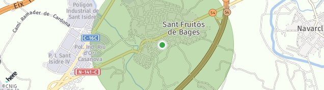 Mapa Sant Fruitós de Bages