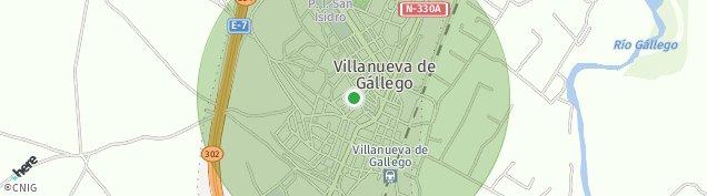 Mapa Villanueva de Gállego