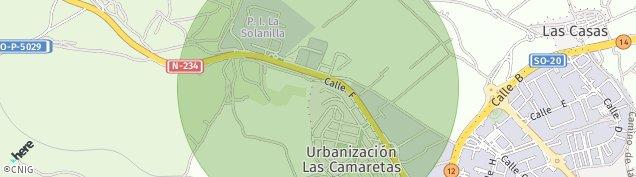 Mapa Las Casas de Soria