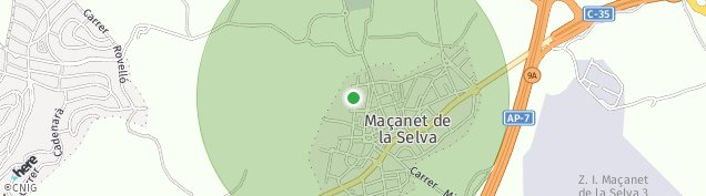 Mapa Maçanet de la Selva
