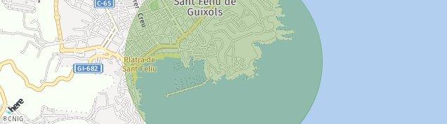 Mapa Sant Feliu de Guíxols