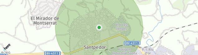 Mapa Santpedor