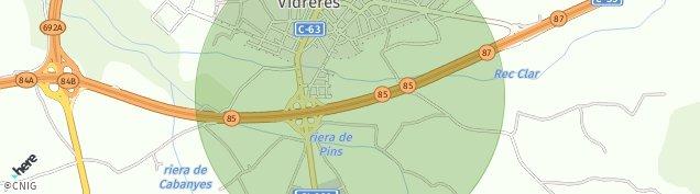 Mapa Vidreres